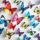 12Pcs 3D Butterfly Wall Stickers Fashion Flower Removable Decor Art DIY Murals