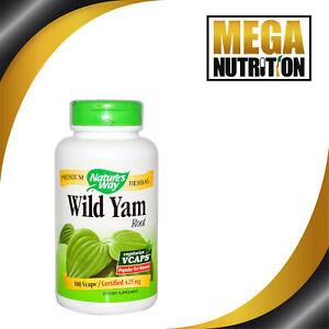 Nature-039-s-Way-Wild-Yam-Root-425mg-180-Veg-Caps-Women-039-s-Health-Hormone-Balance