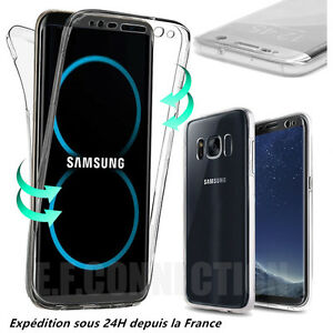 Coque Housse 360° FULL Silicone Tactile Pour Samsung S6 S7 S8 PLUS S9 Note 8 9
