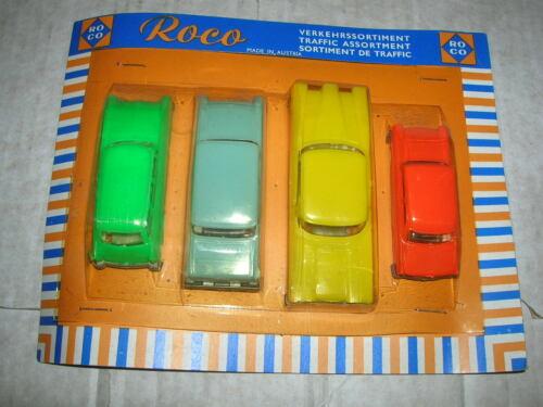 Altes ROCO Verkehrssortiment Set mit Ford, Edsel, Opel und DKW