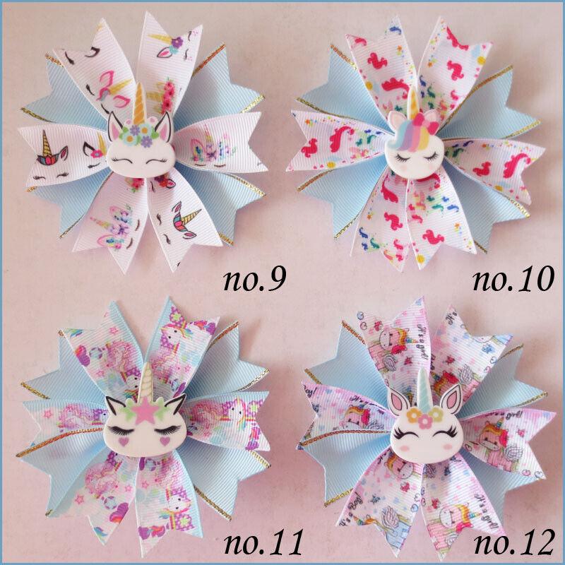 """50 BLESSING Girl Popular 3.5/"""" Fairy Hair Bow Clip C L.O.L Doll Rainbow Baby"""