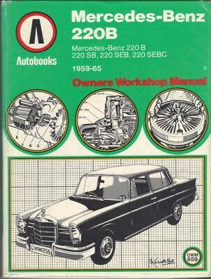 MERCEDES BENZ WORKSHOP MANUAL W111 1959-1965