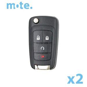 2-x-Holden-VF-Commodore-4-Button-Remote-Flip-Key-Blank-Shell-Case-Enclosure