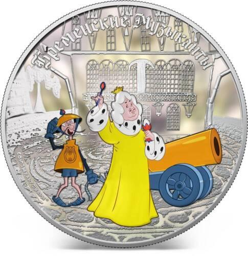 Cook Islands 2011 5$ Town Musicians Of Bremen King 1Oz Silver Coin