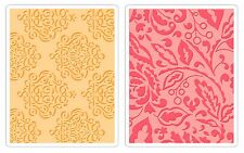 Sizzix Berry Splash & Curly Gate Emboss 2pk set #657395 Retail $10.99 LOVELY!
