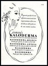KALODERMA COSMESI PROFILO BELLEZZA DONNA PRODOTTI PELLE 1938