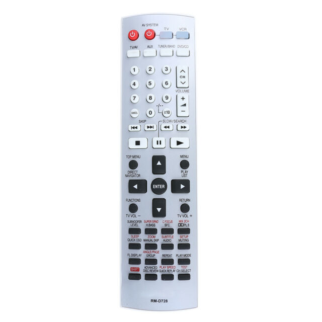 Remote Control Replacement for Panasonic EUR7722X10 DVD Home Theater #3YE