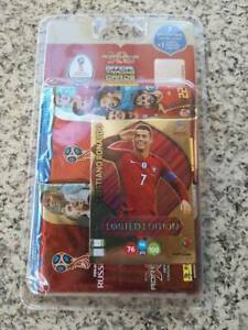Panini-Russia-2018-adernalyn-xl-Card-LE-CR-CRISTIANO-RONALDO-limited-7packs