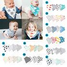 4Pcs Pack Infant Kids Baby Bibs Boy Girl Saliva Towel Dribble Triangle Bandana