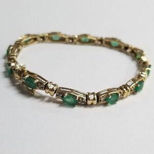 14k-Yellow-Gold-Gemstone-7-25-034-Bracelet-Jewelry-EB-EGB69