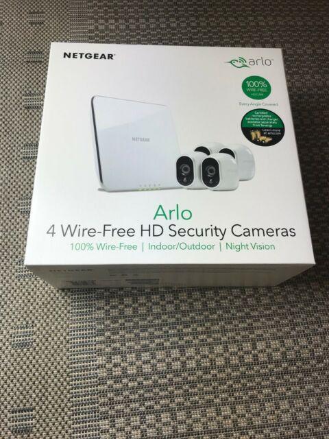 Arlo Smart Home Indoor/Outdoor Wireless High-Definition Security Cameras 4-Pack