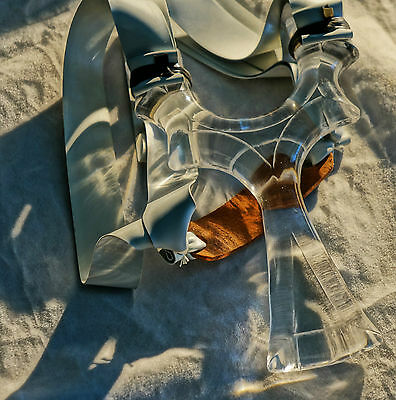 Clear Lucite Powerful Hunting Catapult Slingshot TWIN Theraband BloodShot