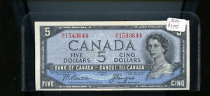 1954-Bank-of-Canada-5-Devil-039-s-Face-Beattie-Coyne-EF-CH126