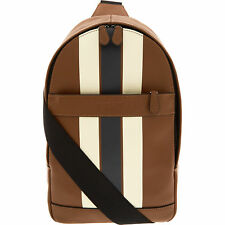 c3db6ea1e5cd COACH Men's Charles Pack Varsity Leather, Sling Backpack Bag, Saddle /Midnight