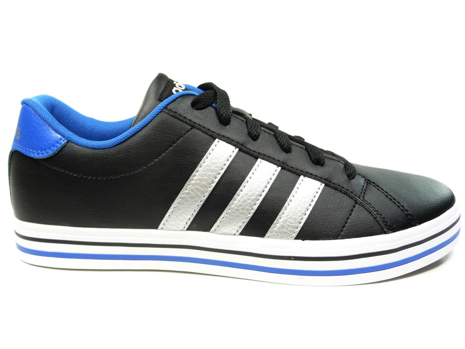 adidas Neo Herrenhalbschuhe Sport Retro Sneaker in Schwarz Silber WEEKLY AW5197