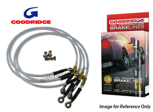 EE111 Braided Brake Kit Lines Hoses Goodridge For Toyota TOYOTA COROLLA G6R