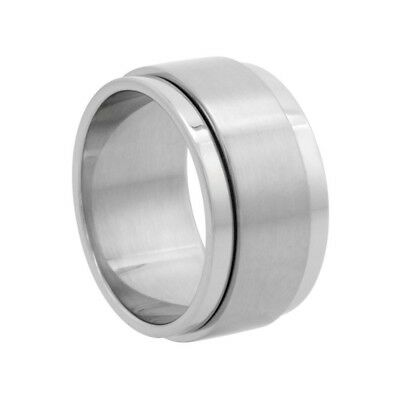 sizes 8-14 Surgical Steel Concave Ring 6mm Wedding Band Polished Finish