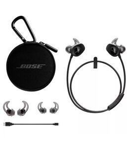 BOSE-SoundSport-Earbuds-Wireless-Bluetooth-Black-Factory-Renewed-1-Year-Warranty
