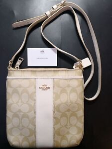 Image is loading Coach-Crossbody-Bag-In-Leather-And-Classic-Coach- 21390afb1