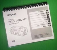 Laser Printed Ricoh Camera Wg-m2, Camera 80 Page Owners Manual Guide