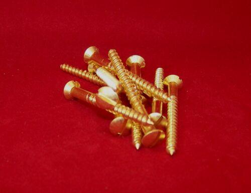 DIN 95 Linsensenk Holzschrauben Messing blank Schlitz 5,0 mm   20 bis 80 mm