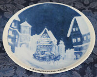 "COLLECTIBLE Kuba PORZELLAN Plate ""CHRISTMAS 1976"" Bavaria, GERMANY"
