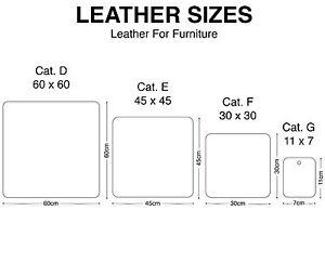 Pelle per arredamento pellame furniture leather sizes for Pelle per arredamento
