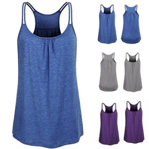 Women-Yoga-Workout-Tank-Top-Camis-Sleeveless-Tunic-Top-Vest-Solid-T-Shirt-Blouse