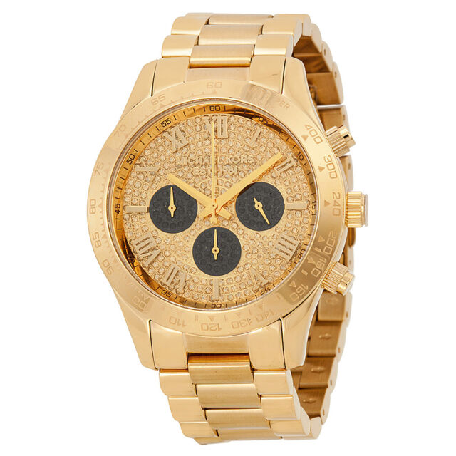 Michael Kors Layton Glitz Gold-tone Ladies Watch MK5830