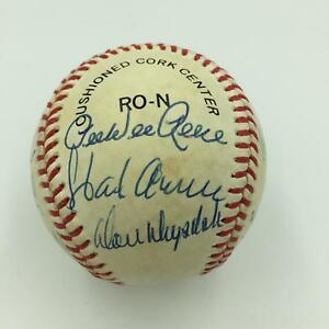 Nice-Hank-Aaron-Willie-Mays-Hall-Of-Fame-Signed-Baseball-17-Sigs-PSA-DNA-COA