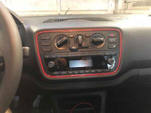 2x-VW-UP-Seat-Mii-Skoda-Citigo-farbige-Lueftungsringe-Radiorahmen-nach-Wunsch