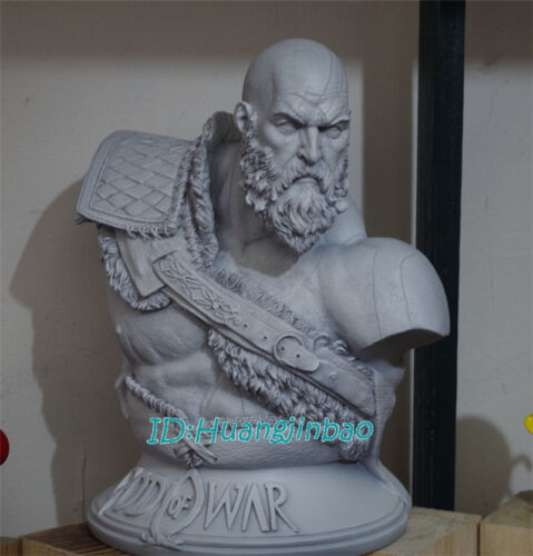 God of War Kratos Unpainted Bust Model Resin Statue 1//3 Scale High-Q Display Hot