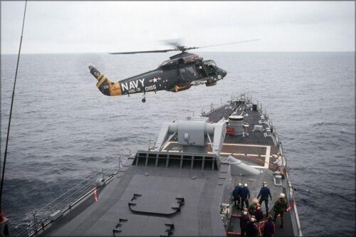 Cg-29 Hsl-31 Poster Many Sizes; Kaman Sh-2F Seasprite Helicopter Uss Jouett