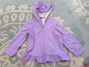 5ee884ad2e8d NEW Gymboree Lavender Purple Whale Hoodie Jacket 12 18 Months