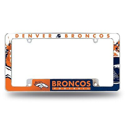 Denver Broncos Plastic License Plate Frame Full Color FAST USA SHIPPING
