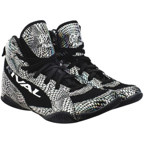 Rival Boxing Lo-Top Guerrero Boots Silver Snake Skin//Black