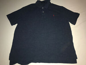 Details about Men's Polo Ralph Lauren Blue Mesh SS Polo Shirt - Big & Tall Size 3XB Big EUC!