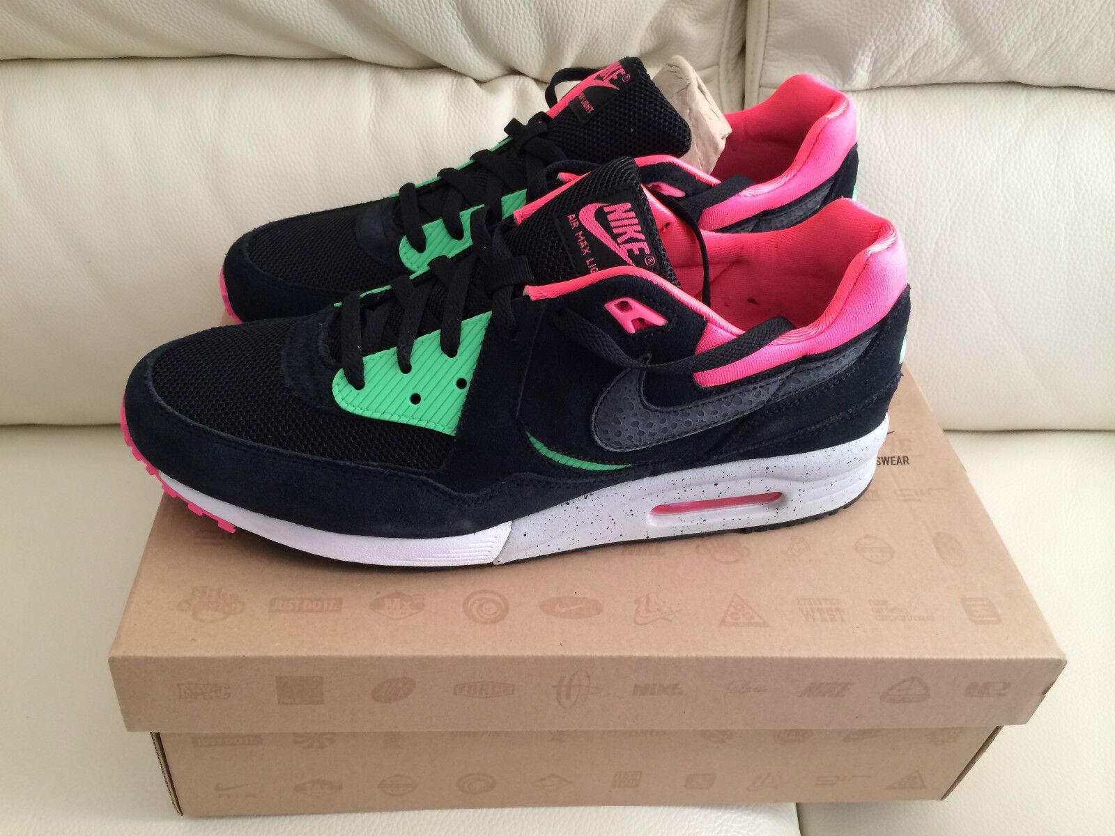 Nike air max light le b Entrainement Baskets Noir / Vert / Rose 10 brand new look ** **