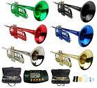 Merano Trumpet,Case,Tuner~Black,Gold,Silver,Red,Green,Blue~Student,Intermediate