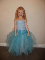Disney's Frozen Elsa Inspired Tutu Princess Party Fancy Dress Costume