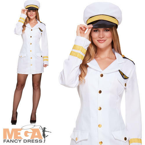 Navy Girl Fancy Dress Nautical Military Sailor Womens Uniform Ladies Costume New