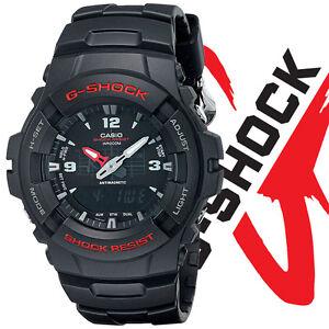 Casio-Men-039-s-G100-1BV-G-Shock-Digital-Black-Resin-Watch