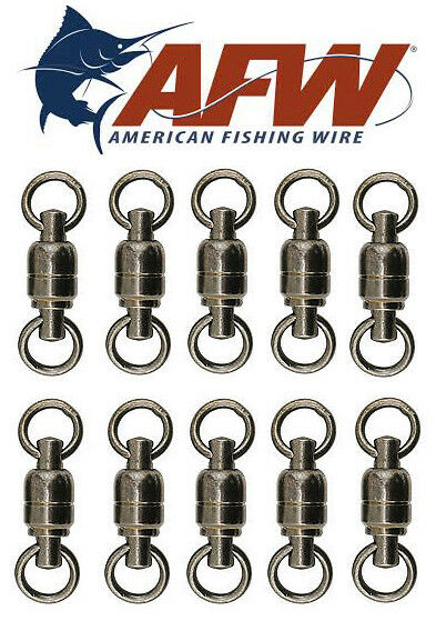 AFW American Fishing Wire Ball Bearing Swivel BB  Swivels Solid Brass Leaders  classic style
