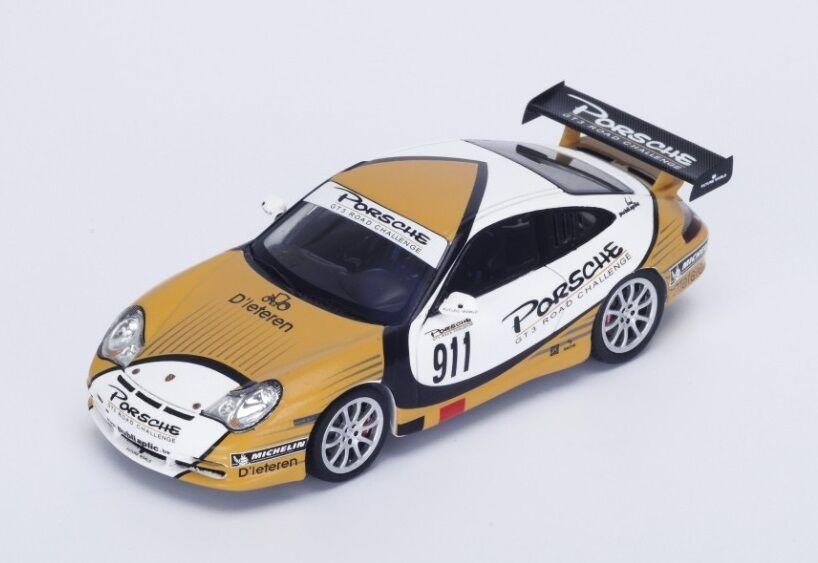Porsche 996  911 GT3 Road Challenge  or blanc  2004 (Spark 1 43   S4479)