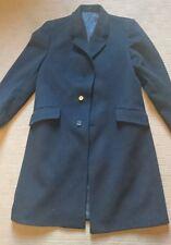 Crombie coat black mens xl 44 inch cashmere bodner