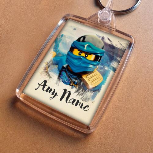 Fun Keychain Boys Birthday Son NINJAGO Personalised Keyring Party Bag Filler