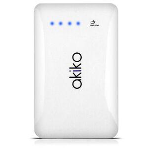 AKIKO-9000mAh-Slim-Dual-USB-Portable-Battery-Charger-External-Power-Bank-White