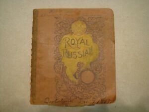 1898-ROYAL-RUSSIAN-Notebook-ORIGINAL-HANDWRITTEN-QUOTES