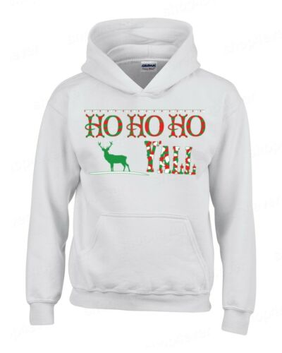 Ho Ho Ho Y/'all Hoodie Funny Ugly Christmas Holiday Festive Reindeer Santa