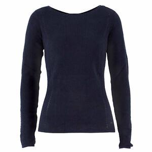 14127c7aac7a1c TOM TAILOR Damen Pullover 3055784.71.70 Ribbed Sweat Blau / XS + L ...